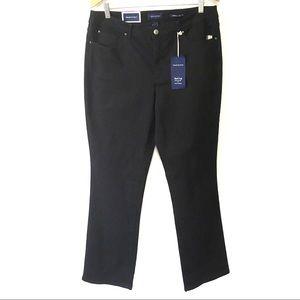 NWT Charter Club Black Prescott Bootleg Pants 14